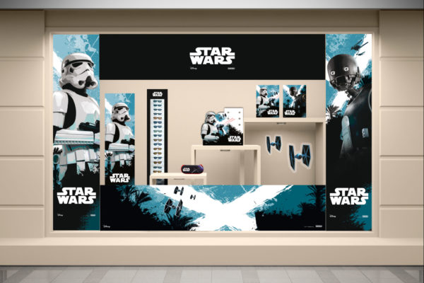 Vitrine-Opticien-PLV- Star-Wars