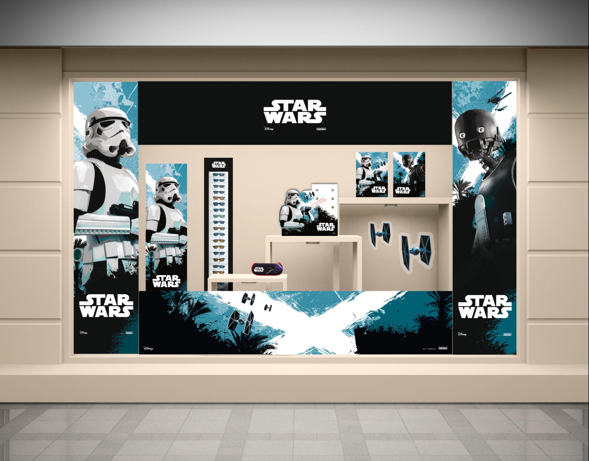 Vitrine-Opticien-PLV- Star-Wars